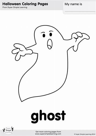 Halloween Ghosts Ghost Coloring Simple Super Worksheets