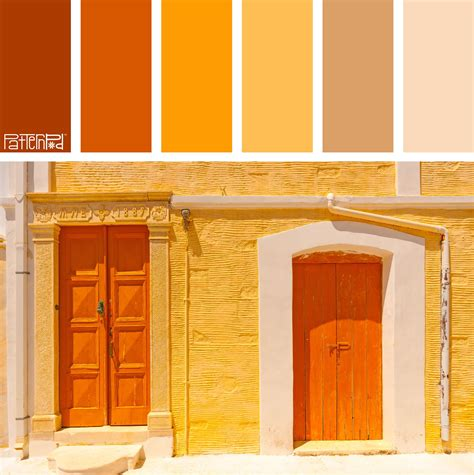 color palette burnt orange tangerine and sand if you