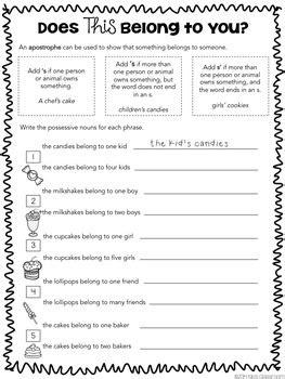 grammar 3rd grade parts of speech worksheets