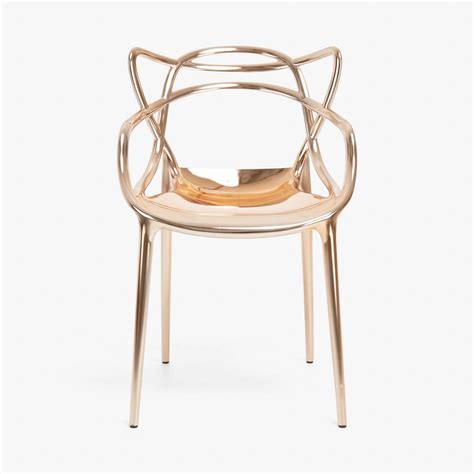 chaise masters chaise masters métallisé de kartell cuivre