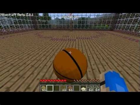 minecraft basketball modsports mod youtube