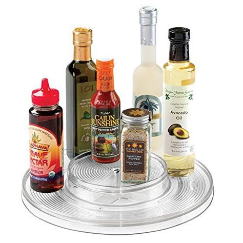 kitchen spice organizer mdesign kitchen lazy susan turntable cabinet spice 3085