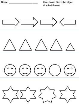 Same And Different Worksheets By Clip Art Creations Al Tpt
