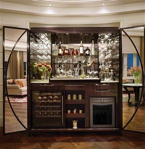 Bar In Hotel Room by The Royal Penthouse At The Corinthia Hotel In