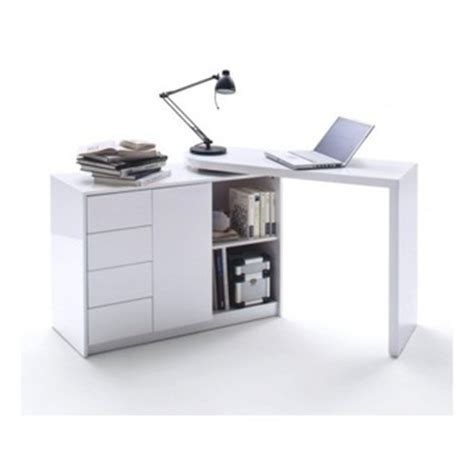 Bureau D Angle Blanc Laque Design by Bureau Pivotant Dans Bureau D Adulte Achetez Au Meilleur