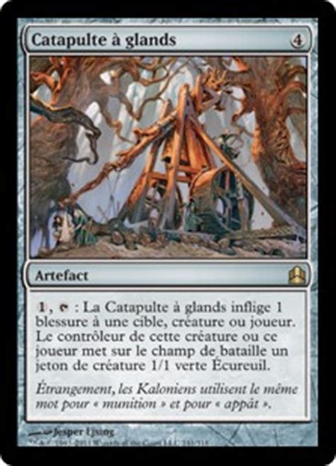 catapulte 224 glands magic the gathering commander gatherer magic the gathering