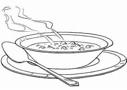Soup Coloring Pages Bowl Vegetable Colouring Printable