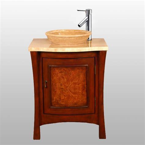 26 Inch Modern Vessel Sink Vanity In Multitone Brown