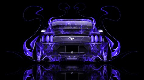 ford mustang muscle  fire abstract car  el tony