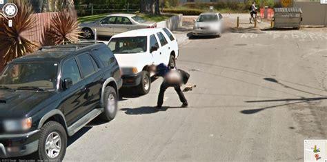 google street view australia captures  guy  mid air