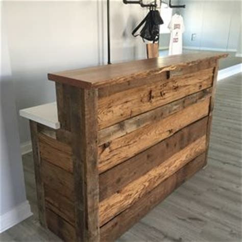 reclaimed wood reception desk reception desks for offices custom reception counters 4536