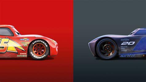 Car Wallpapers Cars 3 by Lightning Mcqueen Vs Jackson Cars 3 4k 8k Wallpapers