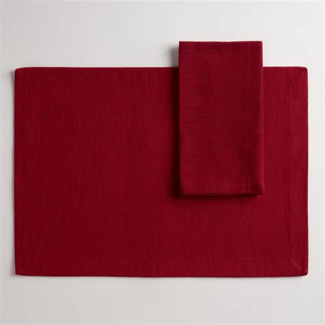 world market table linens red khadi table linens collection world market