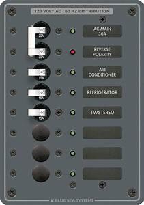 Ac Circuit Breaker Main   6 Position Panel  120v