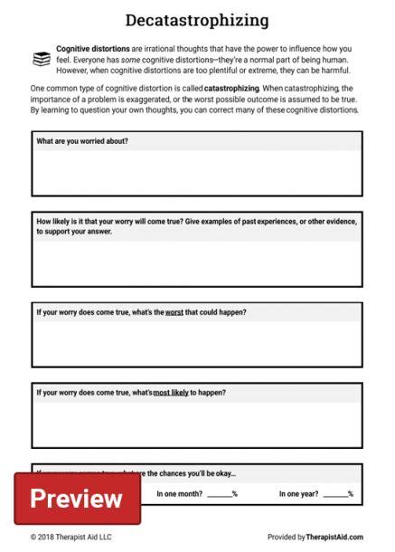 Pin on mental health depression fibromyalgia. Cognitive Restructuring Worksheet