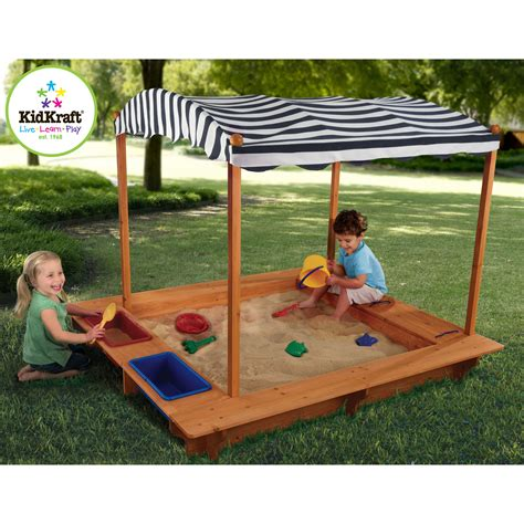 kidkraft outdoor sandbox  canopy  sandboxes