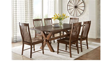 Twin Lakes Brown 5 Pc 84 In Rectangle Dining Room Rustic