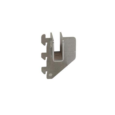 econoco 1 in l satin chrome hangrail bracket for president line slotted standards cr1 sc the