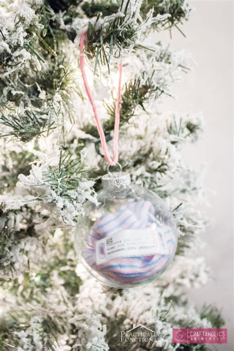 craftaholics anonymous 174 diy baby s first christmas ornament