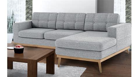 Canape D Angle Confortable - canapé d 39 angle tolbon capitoné de style scandinave en