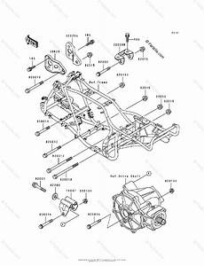 Kawasaki Atv 1993 Oem Parts Diagram For Frame  U0026 Fittings