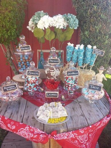western themed candy bar party ideas family reunion food western candy buffet