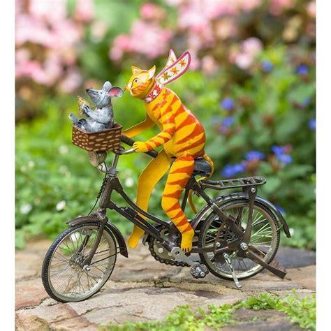 driving animal metal garden accent cat plow hearth