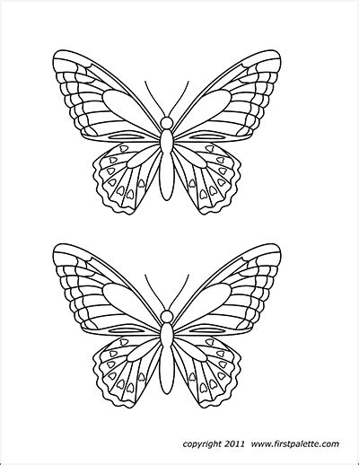 butterflies  printable templates coloring pages firstpalettecom
