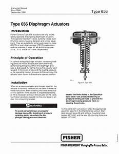 656 Actuator Instruction Manual By Rmc Process Controls