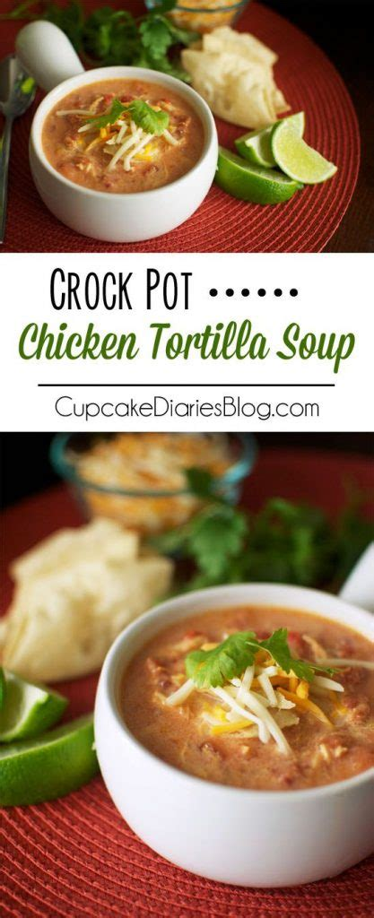 crock pot tortilla soup crockpot soup recipes perfect for fall landeelu com
