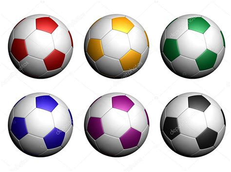 Balls Images White Background by Colorful Soccer Balls Isolated On White Background Stock