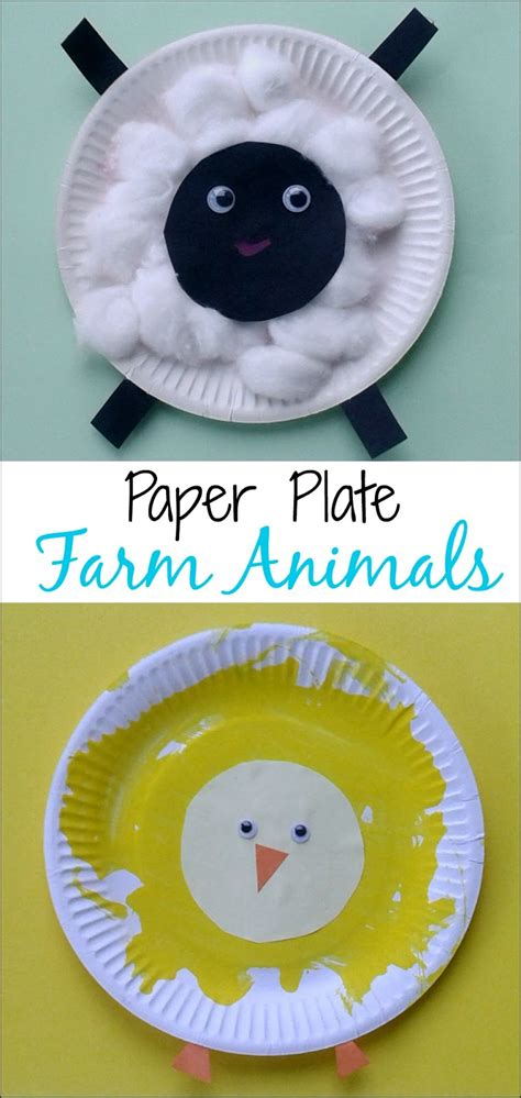 crafts  toddlers paper plate baby farm animals mess