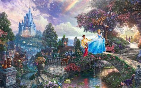 beautiful cartoon fairytale landscape  hd wallpaper