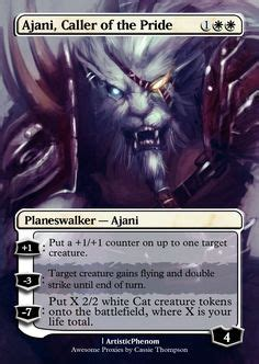 master of cruelties deck ideas ajani steadfast by itsfish3 on deviantart mtg