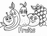 Salad Coloring Fruit Pages Print sketch template