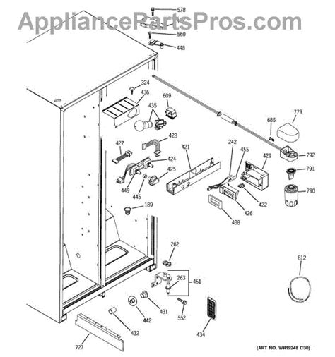 ge wrx ge refrigerator water filter head  tube assembly appliancepartsproscom