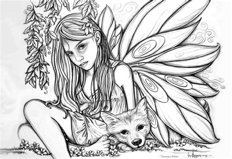 Printable Adult Coloring Pages Fairy Coloring Home