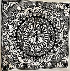 Simple Madhubani Paintings In Black And White | www.imgkid ...