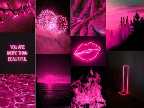 black and pink aesthetic with images pink aesthetic