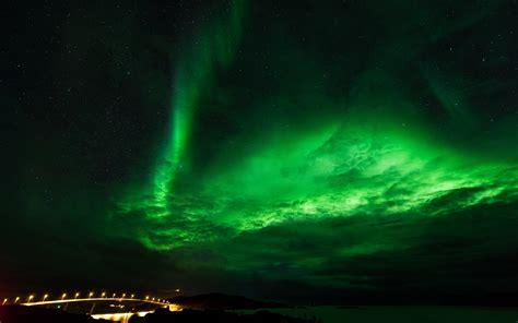 fondos de pantalla luces norte estrellas noche