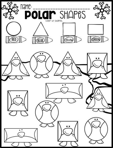 polar animal math and literacy worksheets for preschool