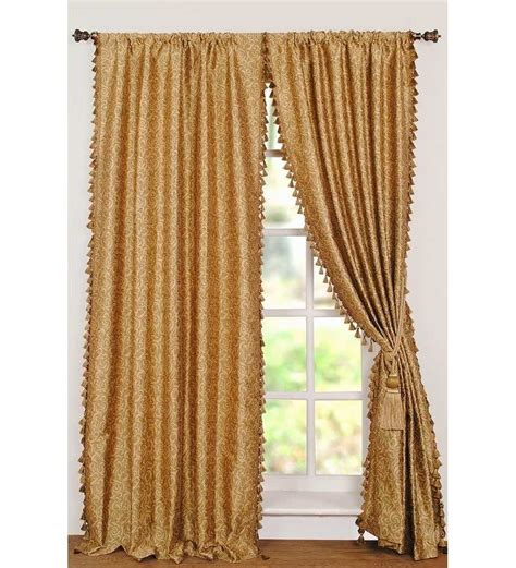 deco window jaq spiral gold 8ft door curtain by deco