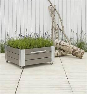 Jardiniere Sur Roulette : cubic jardini re design carr sur roulettes 87x91x45cm bois noir gris vert ~ Farleysfitness.com Idées de Décoration