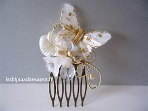 Peigne Cheveux Mariage : peigne cheveux mariage ivoire et dor volutes ~ Preciouscoupons.com Idées de Décoration