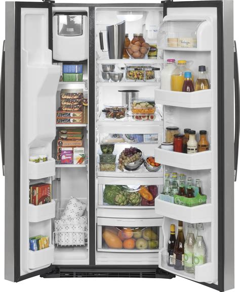 gsegskss ge    cu ft side  side refrigerator stainless steel