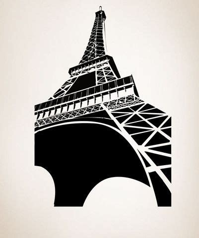 large eiffel tower wall decal paris france home decor