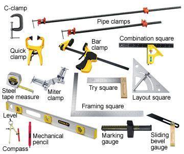 basic start  tool list woodworking wood working