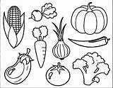 Coloring Vegetable Printable sketch template