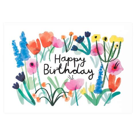 Birthday Card Image by Wrap Happy Birthday Floral Card Greer Chicago