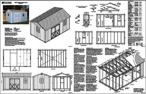 8x10 shed plans pdf free building plans garden sheds 10 x 16
